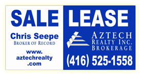 Aztech Realty 4'x8' street - signage